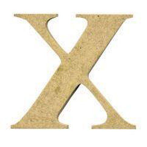 Sullivans Mdf Board Alphabet Letter 17cm X Brown
