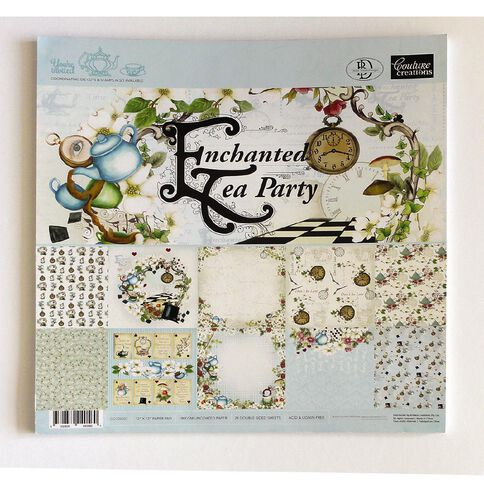 Couture Creations Enchanted Tea Party Paper Pad 12 x 12 24 Sheets