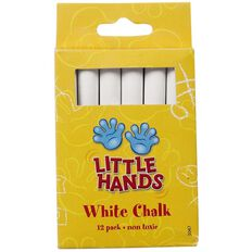 Little Hands Chalk 12 Pack White