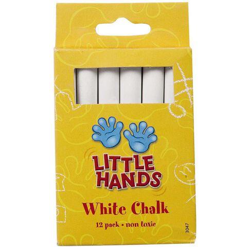 Little Hands Chalk 12 Pack White
