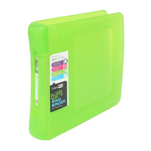 ColourHide Tuff Ringbinder 2D Green A4