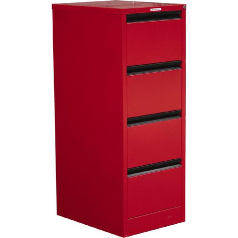 Precision Classic Filing Cabinet 4 Drawer Flame Red
