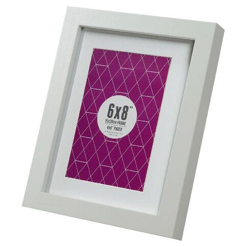 Promenade 6 x 8 Photo Frame White
