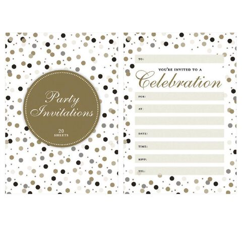 Padded Invitation 20 Sheets Per Pad Formal