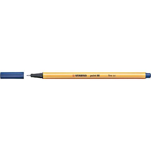 Stabilo Point 88 Fineliner 0.4mm Blue