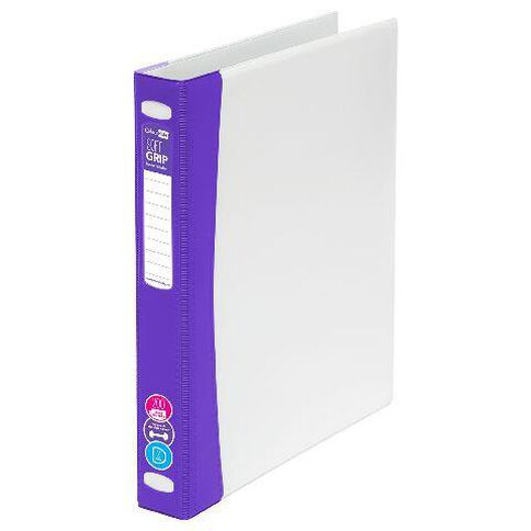 ColourHide Softgrip Ringbinder 2D Purple