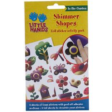 Little Hands Foil Shimmer Shapes Sticker Activity Pack in the Garden