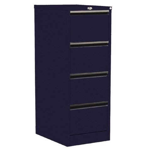 Precision Classic Filing Cabinet 4 Drawer Midnight Blue