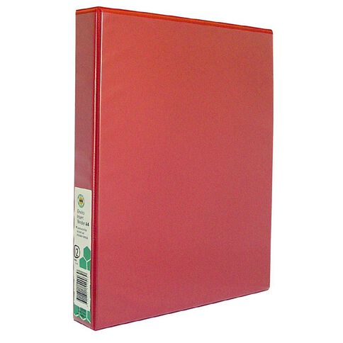 Marbig Ringbinder Overlay 25mm 2D Ring Red A4