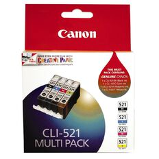 Canon Ink Cartridge CLI521 4 Pack