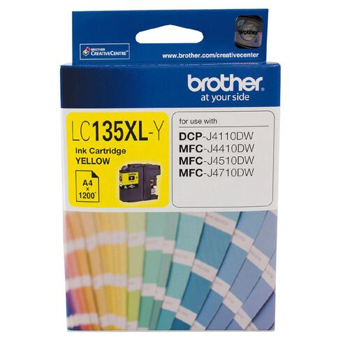 Brother Ink Cartridge LC135XL Yellow
