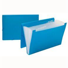 Impact Foolscap Expanding File PP 12 Pocket Blue