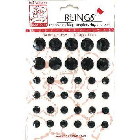 Blings Stick On Bling Black