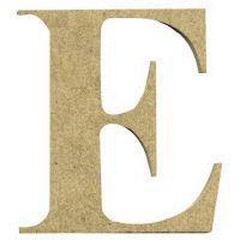 Sullivans Mdf Board Alphabet Letter 6cm E Brown
