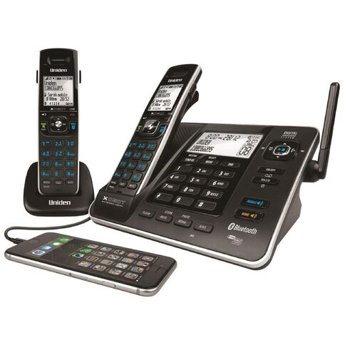 Uniden Xdect8355+1 Cordless Phone With Handset Answer Machine Twin Black