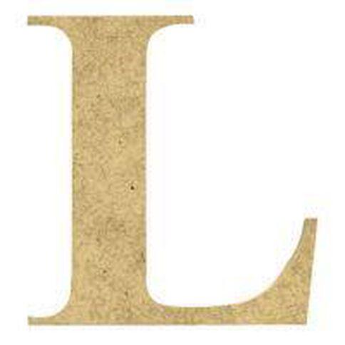 Sullivans Mdf Board Alphabet Letter 6cm L Brown