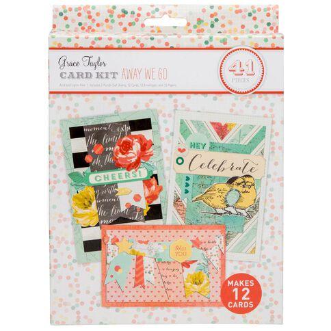 Grace Taylor Away We Go Card Making Kit Multi-Coloured