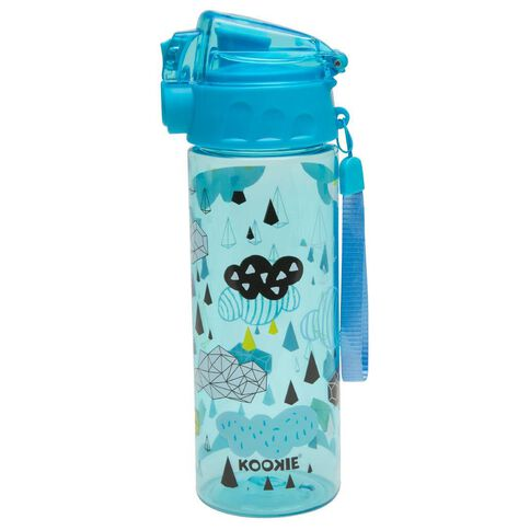 Kookie Geo Clouds Drink Bottle Blue Blue