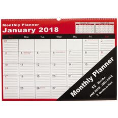 Cumberland Wall Planner 2018 Monthly 530 x 390mm Mtv