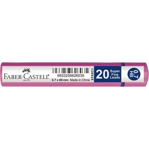 Faber-Castell Lead Refills Grip Tube 0.7 HB 20 Pack White