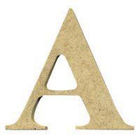 Sullivans Mdf Board Alphabet Letter 6cm A Brown