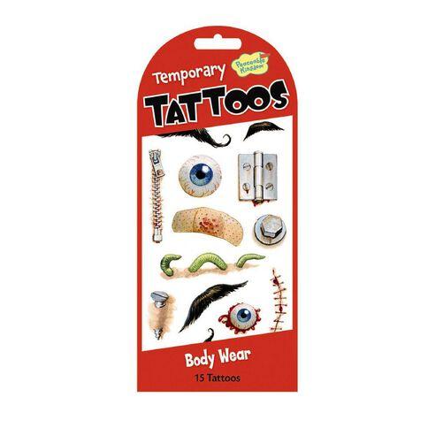Peaceable Kingdom Stickers Temporary Tattoo Bodyware