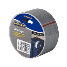 Sellotape Cloth Tape 48mm x 10m Silver
