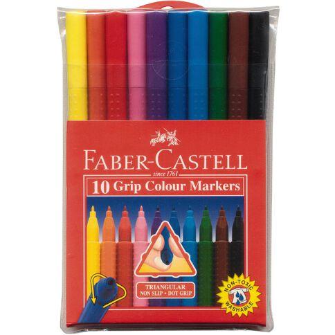 Faber-Castell Felt Pens Grip Wallet 10 Pack