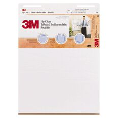 3M Flipchart 635 x 762mm 40 Sheet White
