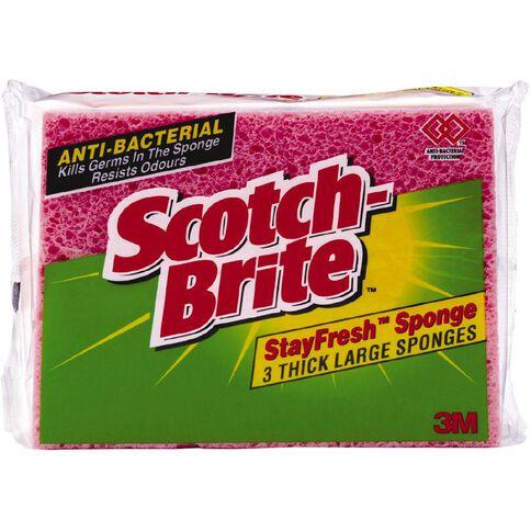 Scotch-Brite Sponge Stayfresh 3 Pack Red
