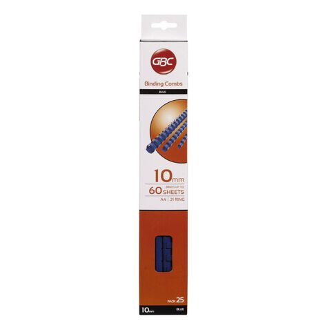 Ibico Binding Comb 10mm 25 Pack Blue