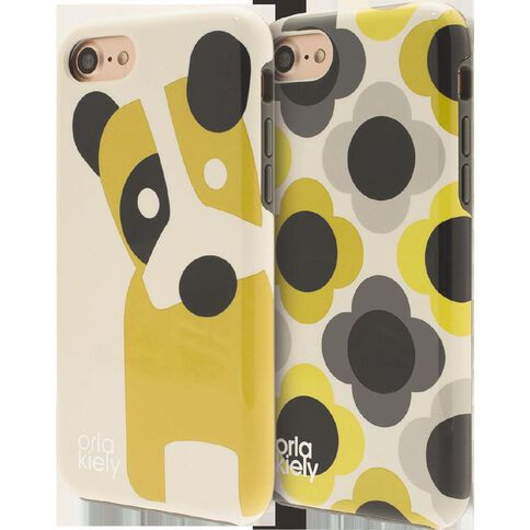 Orla Kiely Iphone 7 Case Giant Flower Spot/Dog Duo Pack Clear