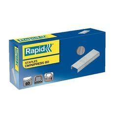 Rapid Staples Omnipress 60 Sheet 8mm 5000 Box