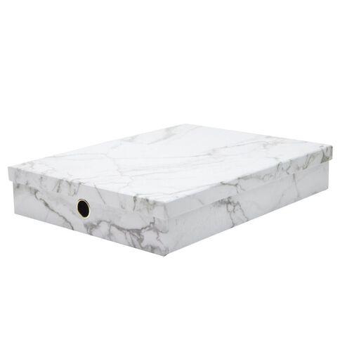 Uniti Marble Storage Box White A3