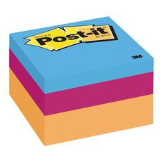 Post-It Mini Cubes Neon Multi-Coloured