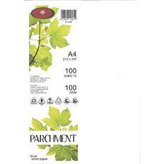 Parchment Paper 100gsm 100 Pack Nova White A4