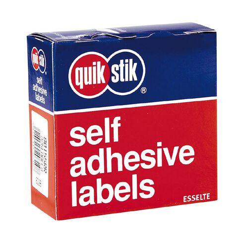 Quik Stik Labels Mr2449 24mm x 49mm 325 Pack White