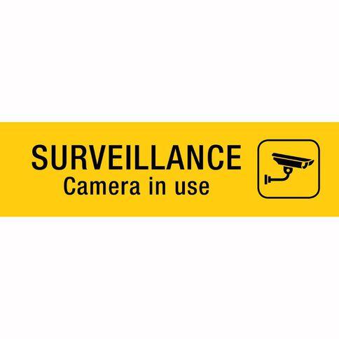 Alpi Self Adhesive Surveillance Camera Black