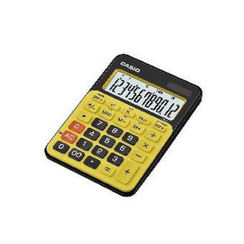 Casio 12-Digit Desktop Calculator Ms20Ncbyw Yellow