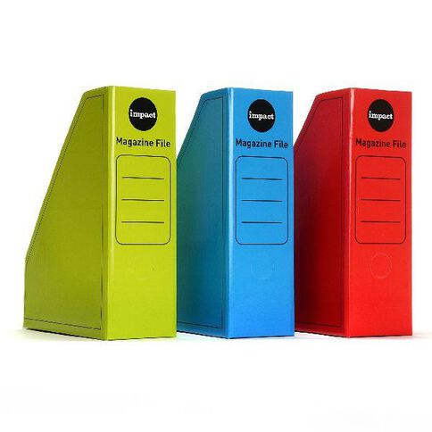 Impact Magazine File 3 Pack Hot Colours