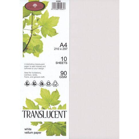 Translucent Vellum Paper 10 Pack White