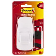 Command Jumbo Hook White