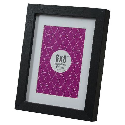 Promenade 6 x 8 Photo Frame Black