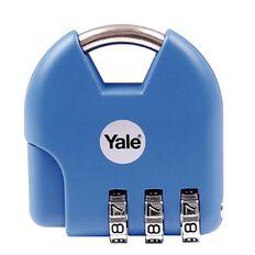 Yale Novelty Padlock Active Style 3 Digit Combination Blue Light