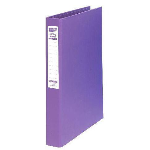 ColourHide Linen Ringbinder Purple