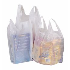Elldex Plastic Singlet Bags Medium 255 x 155 x 520mm 500 Pack White