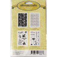 Ultimate Crafts Rambling Rose Stamp Set 6 x 4 Assorted