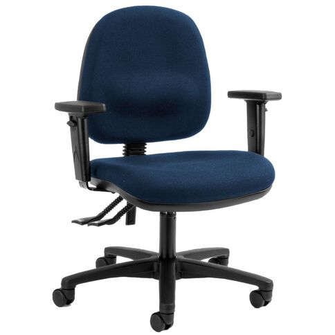 Dawell Aspen Midback Chair With Arms Navy