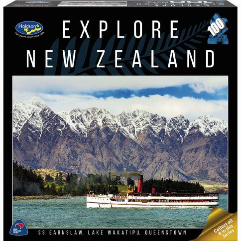 Explore New Zealand 100 Piece Puzzle Assorted Multi-Coloured