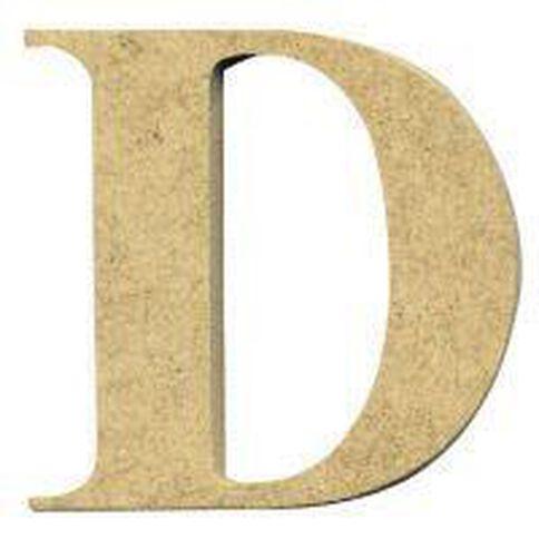 Sullivans Mdf Board Alphabet Letter 17cm D Brown